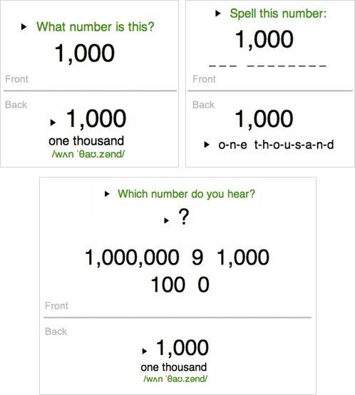 English Alphabet & Numbers to 1,000,000 - AnkiWeb